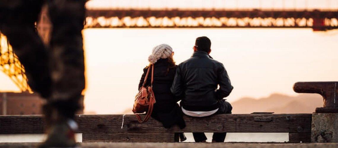 couple sit
